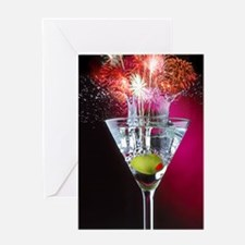 First Martini Greeting Card