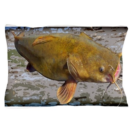 Big Flathead Catfish Pillow Case By Fisheadtackle
