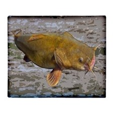 Big Flathead Catfish Throw Blanket