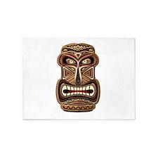 Africa Ethnic Mask Totem 5'x7'Area Rug