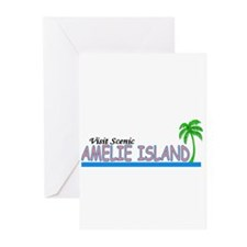 Visit Scenic Amelie Island, F Greeting Cards (Pack