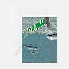 Sharks of Wall Street Greeting Card
