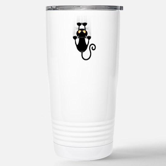 Black Cat Cartoon Scrat Stainless Steel Travel Mug