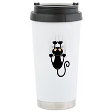Black Cat Cartoon Scrat Travel Mug