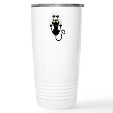 Black Cat Cartoon Scrat Travel Coffee Mug