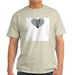 Harp Heart Ash Grey T-Shirt
