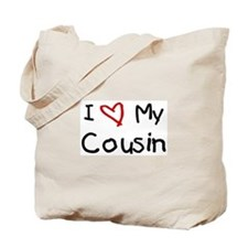 I Love My Cousin Tote Bag