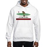 California republic surf Hooded Sweatshirt