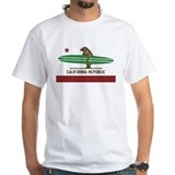 California Mens Classic White T-Shirts