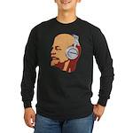 Lenin wearing heaphones Long Sleeve Dark T-Shirt