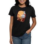 Lenin wearing heaphones Women's Dark T-Shirt