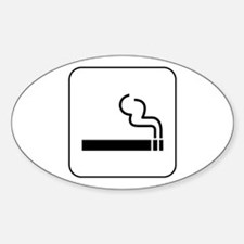 Smoking Permitted Oval Decal