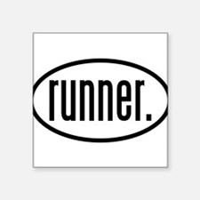 runner. Oval Sticker