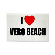 I Love Vero Beach, Florida Rectangle Magnet