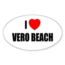 I Love Vero Beach, Florida Oval Decal