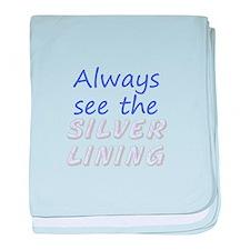 Always See Silver Lining baby blanket
