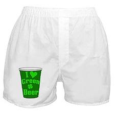 Love Green Beer Boxer Shorts