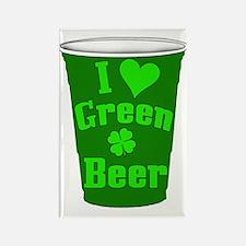 Love Green Beer Rectangle Magnet