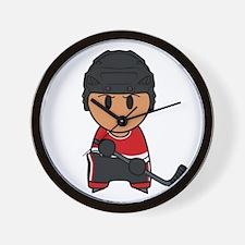 Super hockey player Yoshii Wall Clock