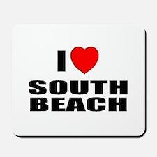I Love South Beach, Florida Mousepad