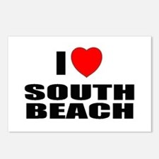 I Love South Beach, Florida Postcards (Package of