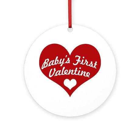 Baby Valentine Ornament (Round)