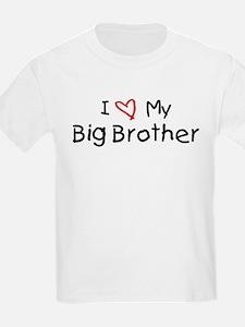 I Love My Big Brother Kids T-Shirt