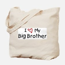 I Love My Big Brother Tote Bag
