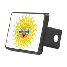 Summer Sun Cartoon with Sunglasses Hitch Cover