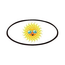 Summer Sun Cartoon with Sunglasses Patches