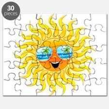 Summer Sun Cartoon with Sunglasses Puzzle