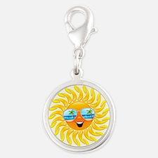 Summer Sun Cartoon with Sunglasses Charms