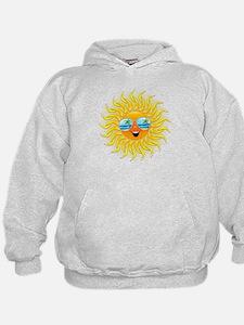 Summer Sun Cartoon with Sunglasses Hoodie