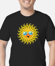 Summer Sun Cartoon with Sunglasses T-Shirt