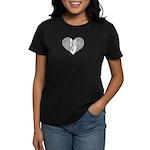 Piano Heart Women's Dark T-Shirt