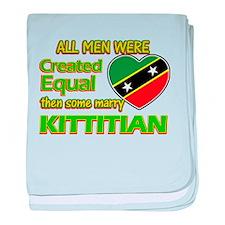 Kittitian wife designs baby blanket