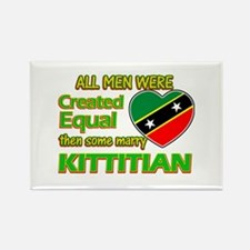Kittitian wife designs Rectangle Magnet