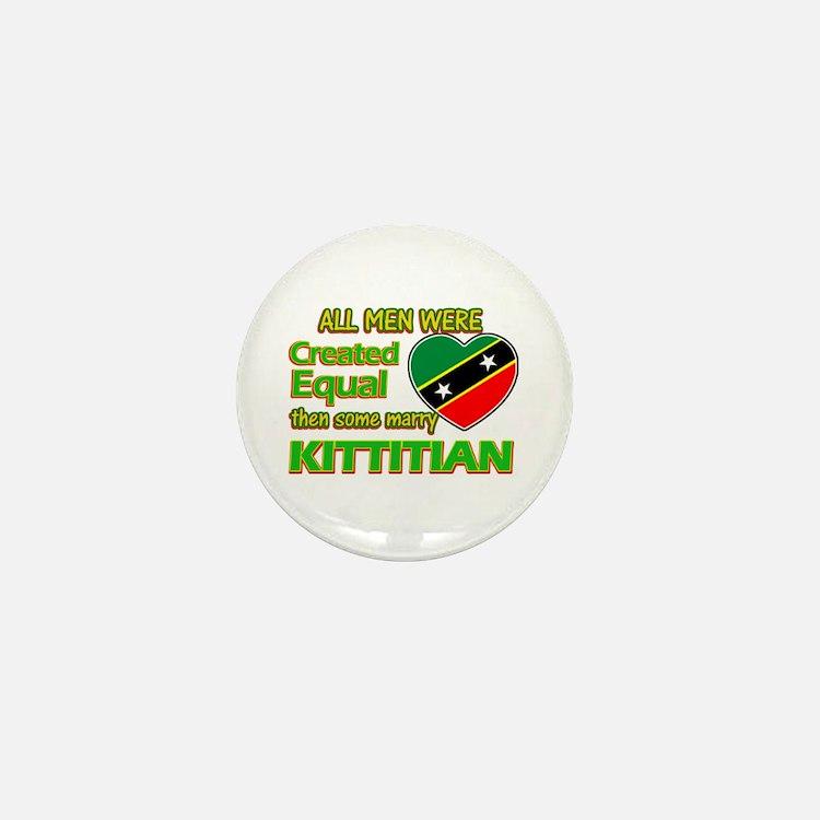 Kittitian wife designs Mini Button