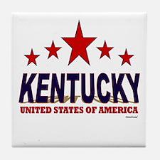 Kentucky U.S.A. Tile Coaster