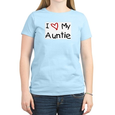 I Love My Auntie Women's Pink T-Shirt