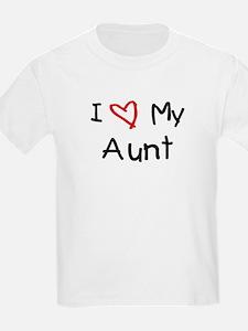 I Love My Aunt Kids T-Shirt