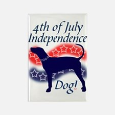 Independence Coonhound Rectangle Magnet (10 pack)