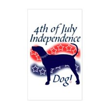 Independence Coonhound Rectangle Decal