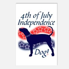 Independence Coonhound Postcards (Package of 8)