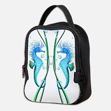 Seahorses Cartoon Neoprene Lunch Bag