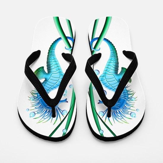 Seahorses Cartoon Flip Flops