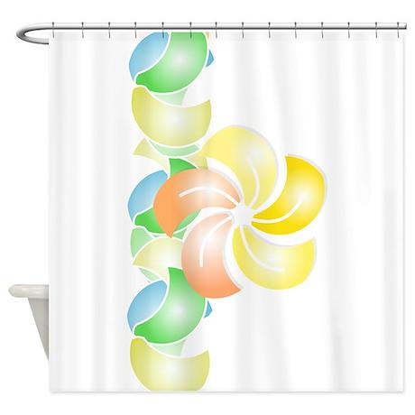 2013_08_28 - Orange Flower vertical Shower Curtain