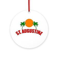 St. Augustine, Florida Ornament (Round)