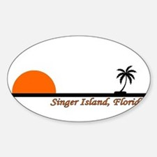Singer Island, Florida Oval Decal