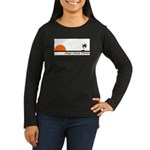 Singer Island, Florida Women's Long Sleeve Dark T-